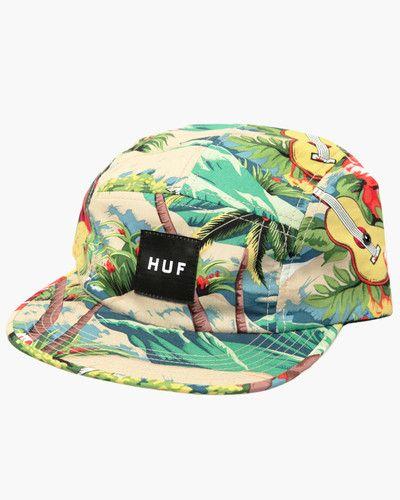 2e5aca64555 Huf Hawaiian Volley 5 Panel Hat Cap - Tropical Surf Print ...