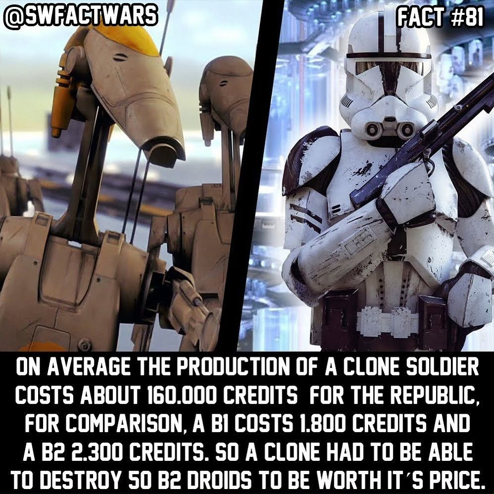 Star Wars The Fact Wars On Instagram No Wonder That The Republic Was Broke At The End Of The War Consider Following S The Republic Soldier Star Wars Memes