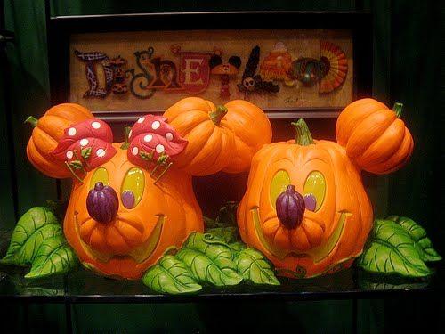 mickey minnie halloween pumpkin face - Mickey Minnie Halloween