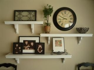 Wall displays with floating shelves new space muur home
