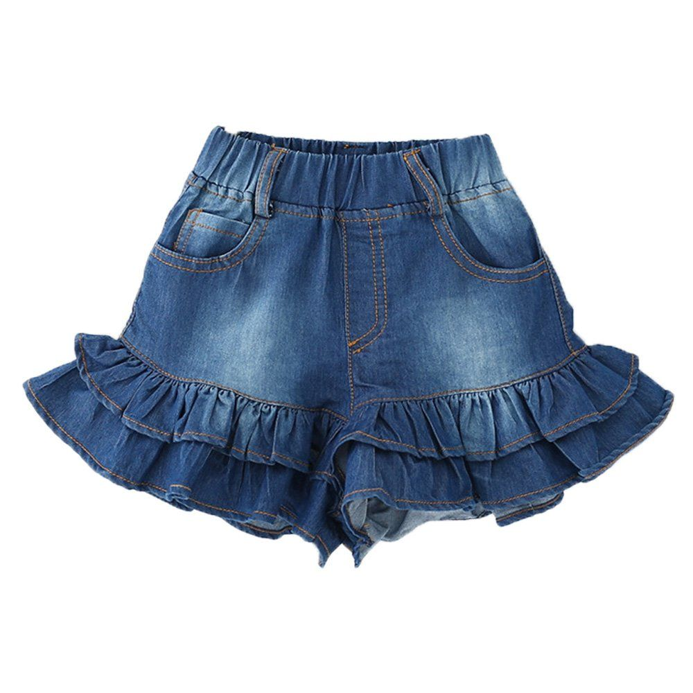 Girls Jean Shorts in The Lotus Leaf