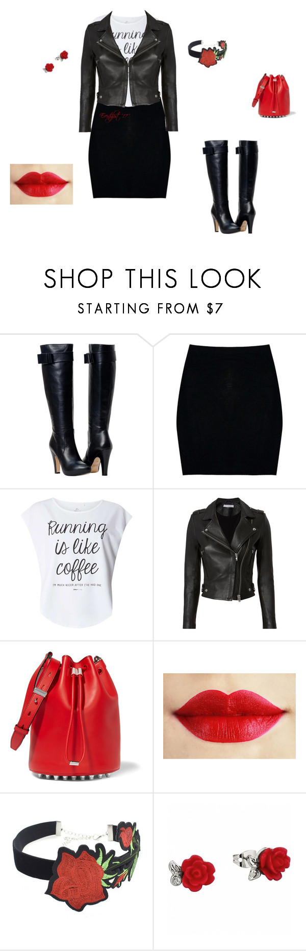 """#2"" by bellascurvas on Polyvore featuring Boohoo, Dorothy Perkins, IRO, Alexander Wang and WithChic"