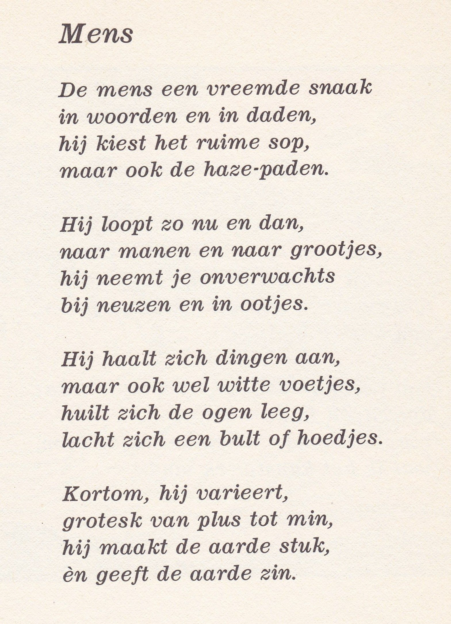 New Mens door Toon Hermans | gedichten - Poems, Quotes en Poetry &KZ97