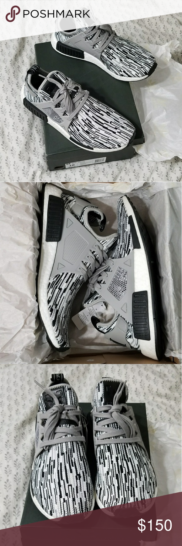716c0fa396e4a Adidas NMD XR1 PK glitch camo oreo New in original box Adidas nmd xr1  primeknit glitch camo oreo men s size 10 never worn. Can fit women s 11.5.