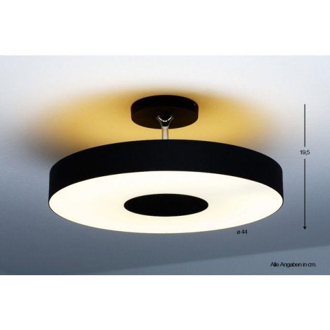 Philips InStyle ALEXA Deckenleuchte Schwarz 302063016-DO1 stuff - deckenleuchten wohnzimmer modern