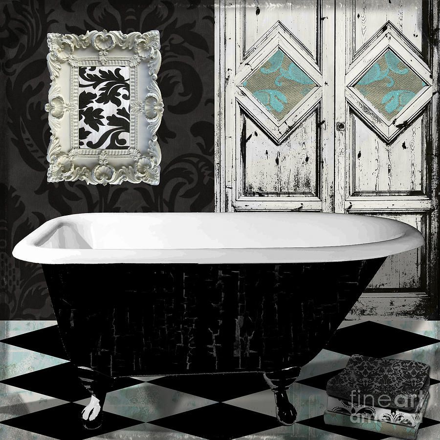 Bathtub Painting - Le Bain Paris II by Mindy Sommers | illustrations ...