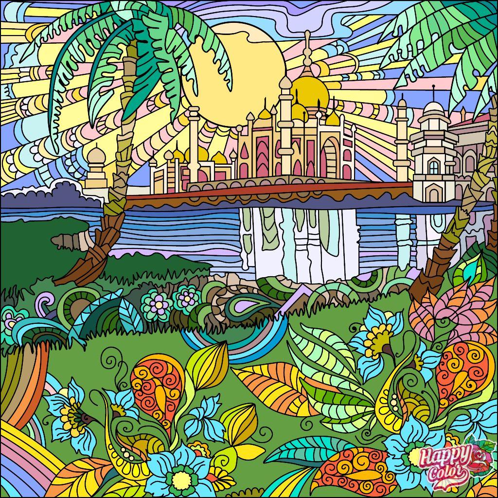 Happycoloringbook Colorful Colors Coloringbook Via Happy Color App For Ipad Happycolorapp Happy Colors Coloring Book App Colorful Art