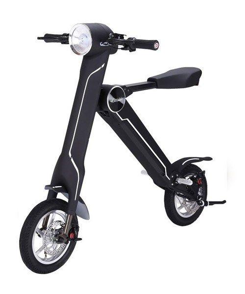 Easy Scooter T25 Schwarz Amavivo Elektroroller Klappfahrrad Radfahren