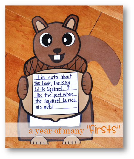 Nutty about books squirrel craft and writing activity for How to write a craft book