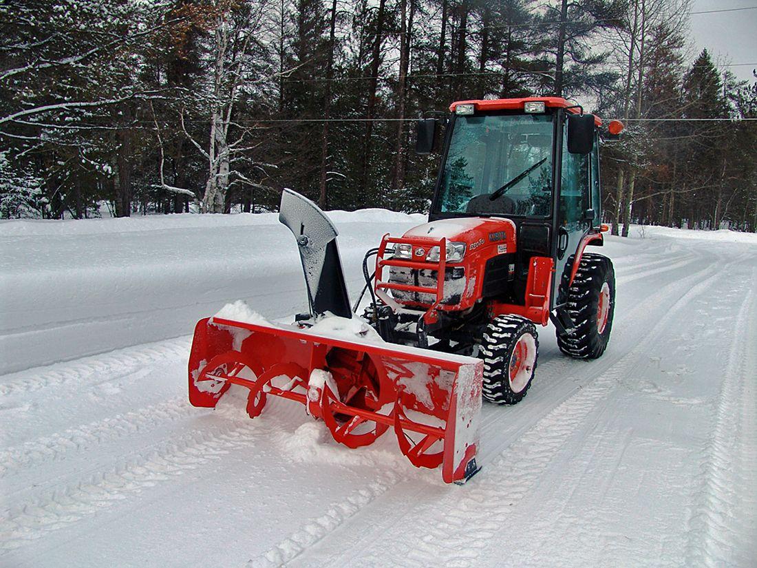 Compact Tractor Snow Removal Setups Cecil Kubota