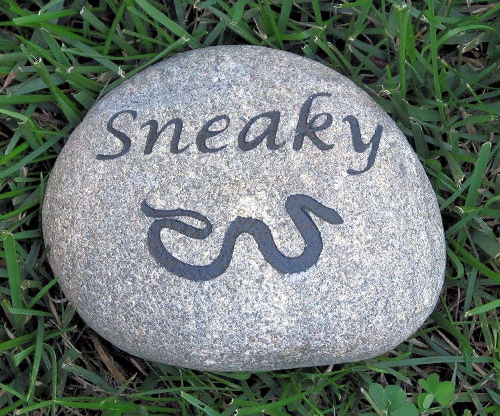 Personalized Snake Memorial Stone Pet Stone Memorial 5-6 Inch Grave Marker