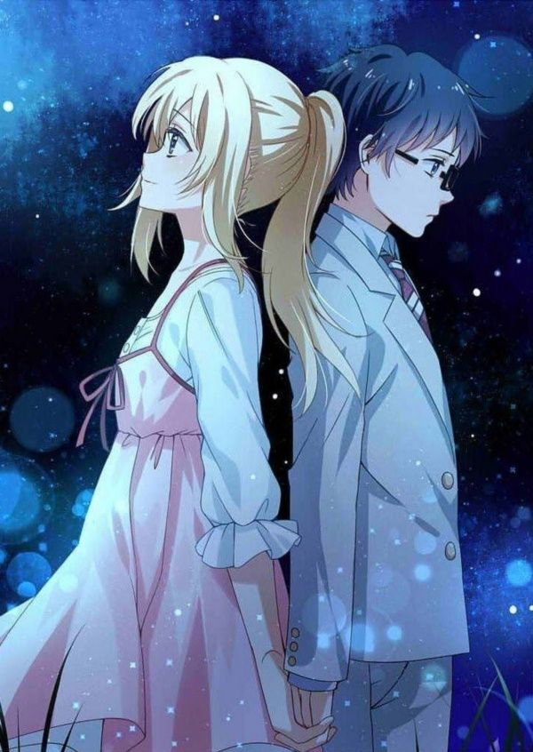 60 Cute Cartoon Couple Love Images Hd Your Lie In April Anime Anime Love Couple