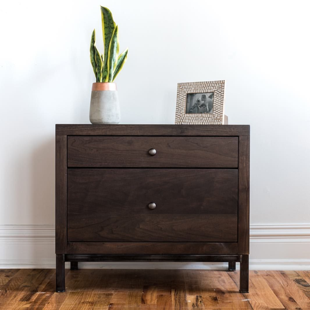 3f99c6b069f The Durham nightstand is one of our newer products we now offer to our  clients. We absolutely love the way the wood compliments the medal…