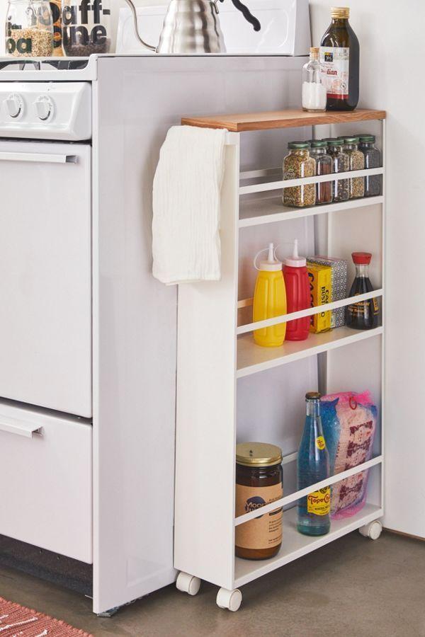 Rolling Kitchen Storage Cart Kuchenrolle Kuchenschranke Und Regale Kuchendesign