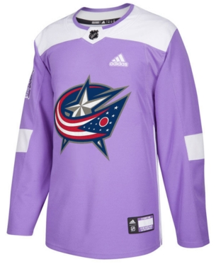 Adidas Men S Columbus Blue Jackets Authentic Hockey Fights Cancer Jersey Purple L In 2019 Products Columbus Blue Jackets Adidas Men Blue Adidas