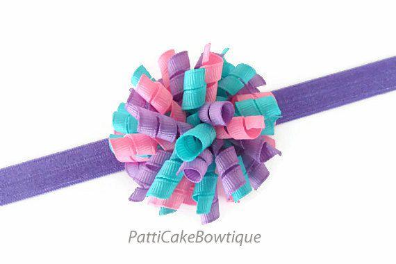 Korker Bow Hair tie  x 1 Baby Girl Toddler
