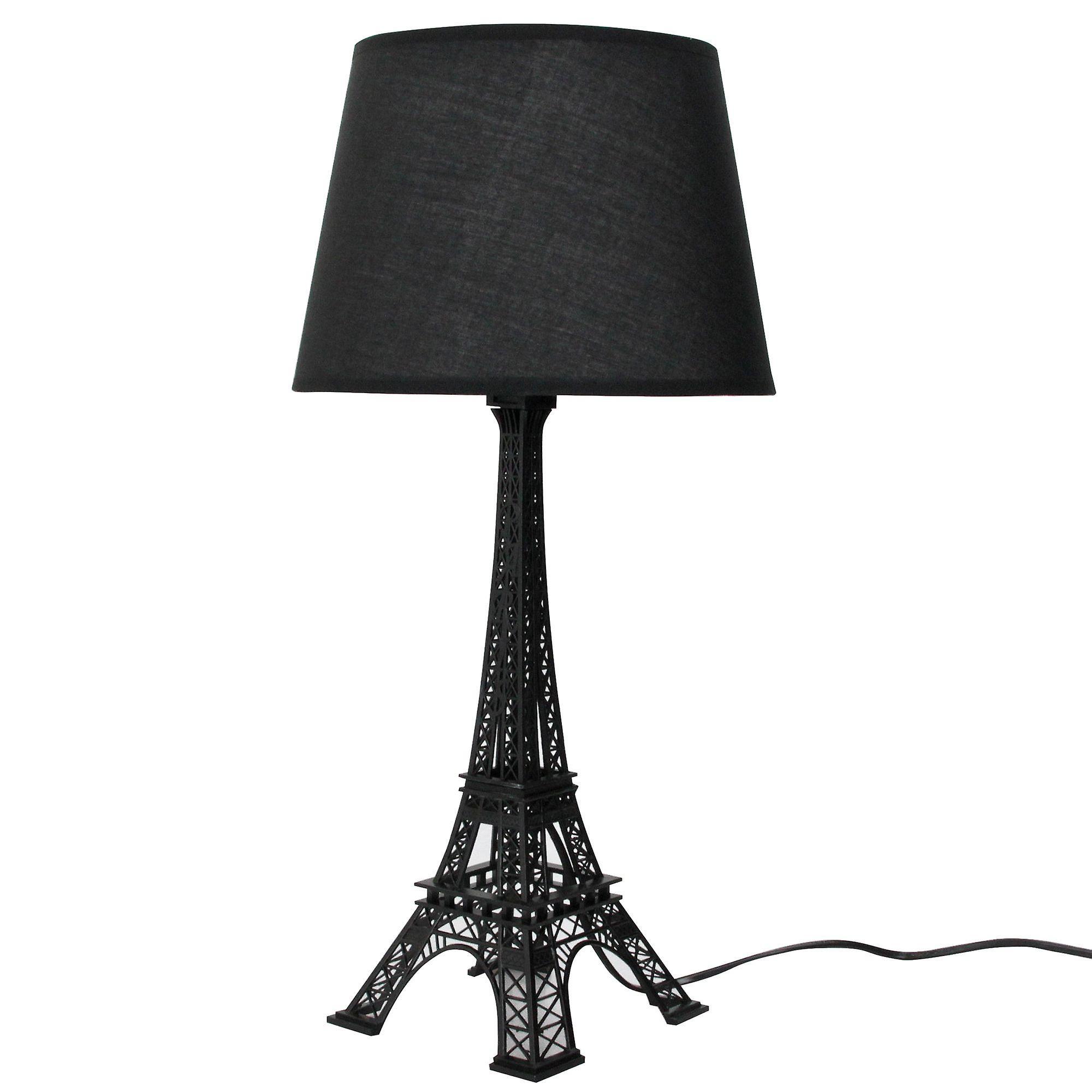 Decorative Black Desk Table Bedside Lamp Eiffel Tower Design H 52cm 20 5 Inch Lamps Bedroom Gift Luxury Lamps Tower Design