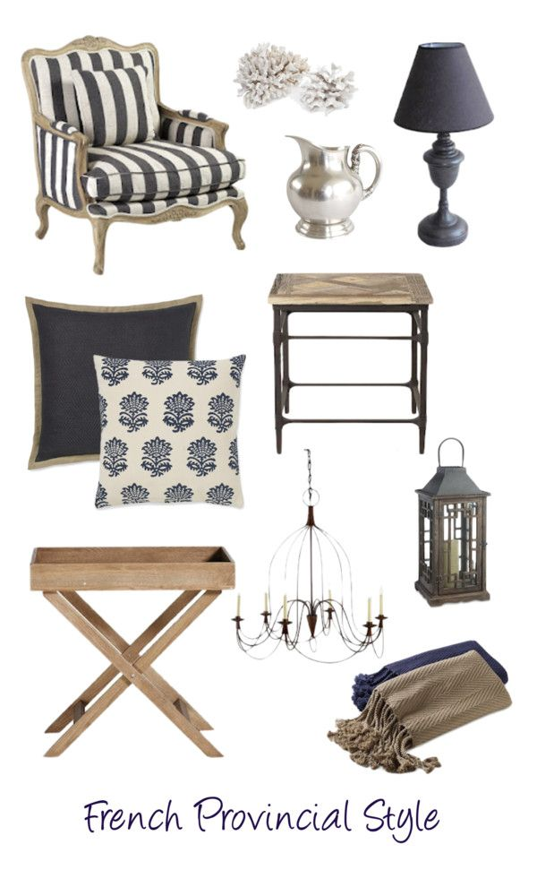 French Provincial Style Country Farmhouse Decorating