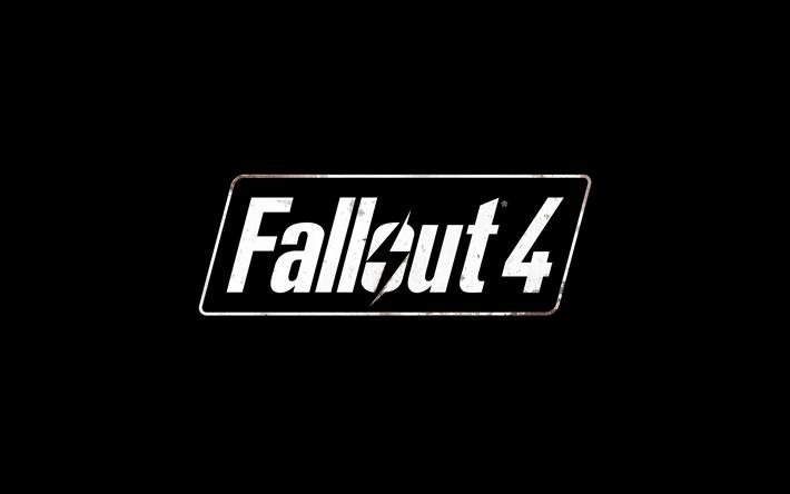 Download Wallpapers Fallout 4 4k Logo Art Black Background Besthqwallpapers Com Fallout Logo Logos Fallout
