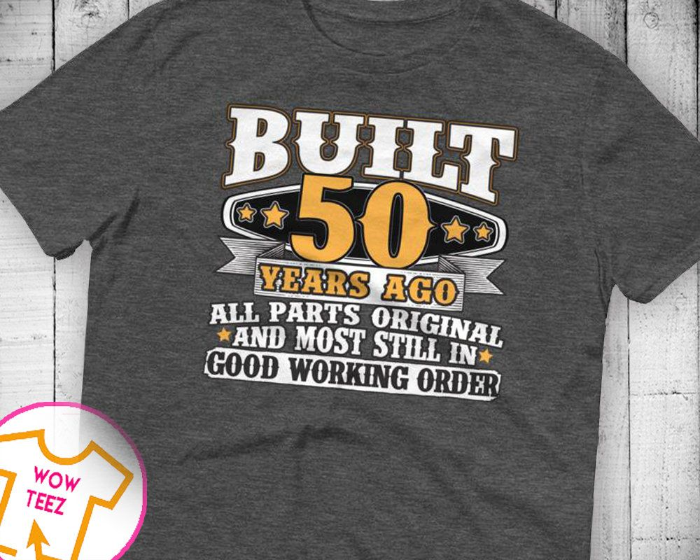 50th Birthday Gift Shirt Bday Idea Funny Tee 50 Years Old Turning For Year By WowTeez On Etsy