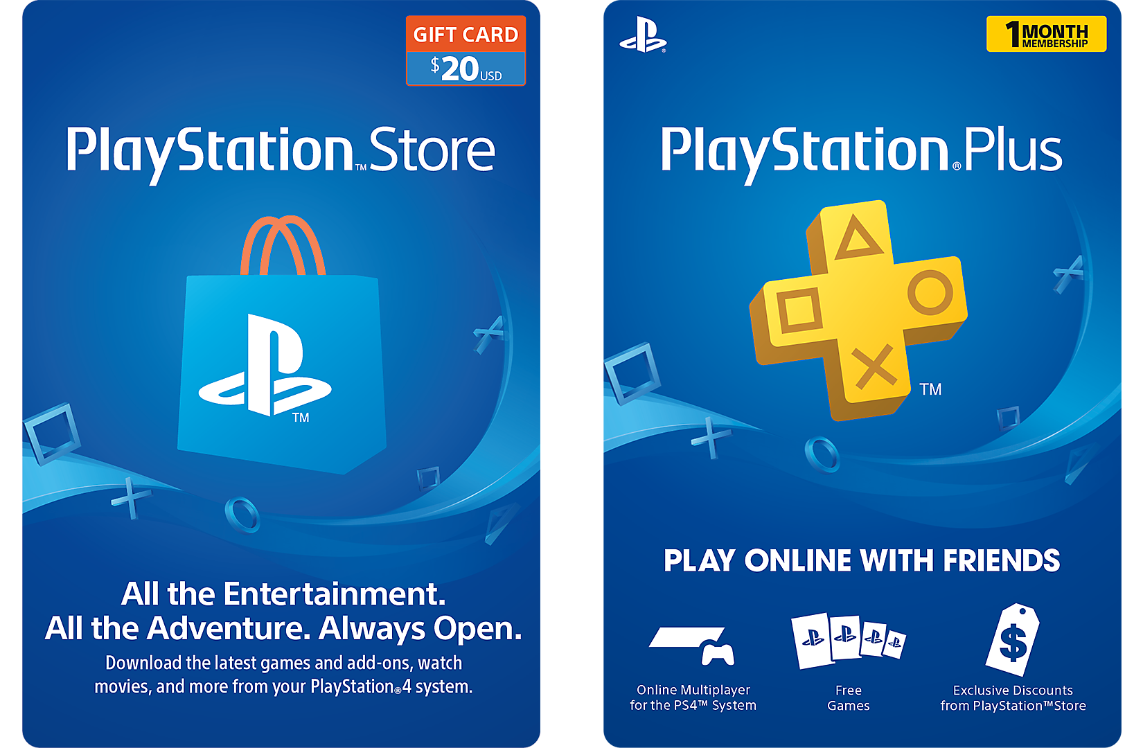 Psn Cards Playstation Gift Card Ps Plus Playstation