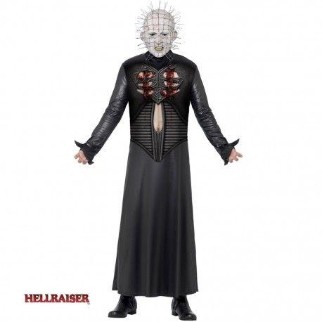 Disfraz De Pinhead De Hellraiser Para Hombre Mercadisfraces Tienda De Disfraces Online Halloween Disfraces Disfraces Vestidos Blancos Pequeños