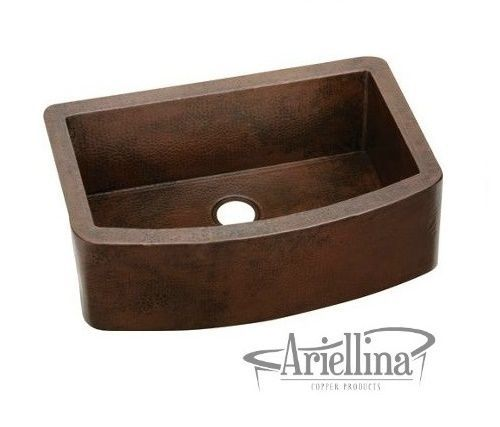 Phenomenal Ariellina Farmhouse 14 Gauge Copper Kitchen Sink Lifetime Interior Design Ideas Inesswwsoteloinfo
