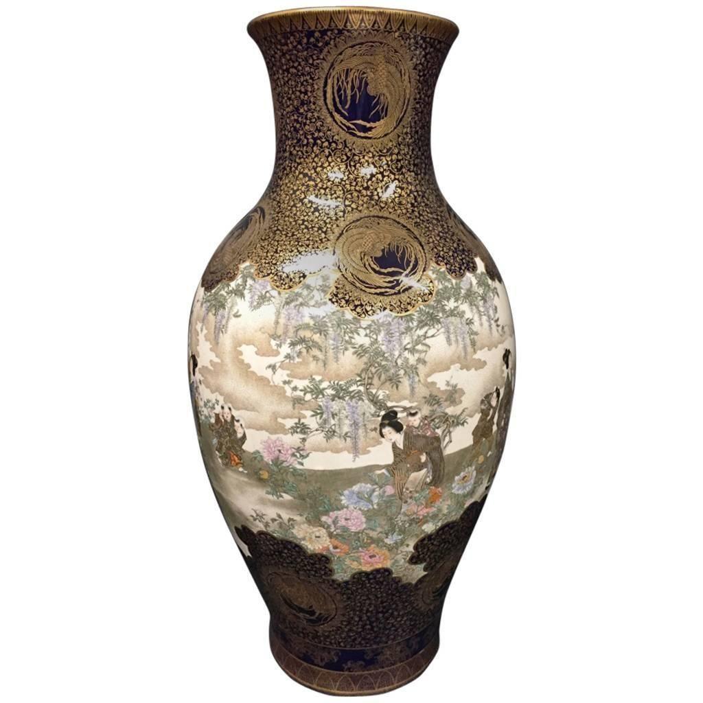 Large Kinkozan Vase 1stdibs Com Vases For Sale Antique Vase Vase