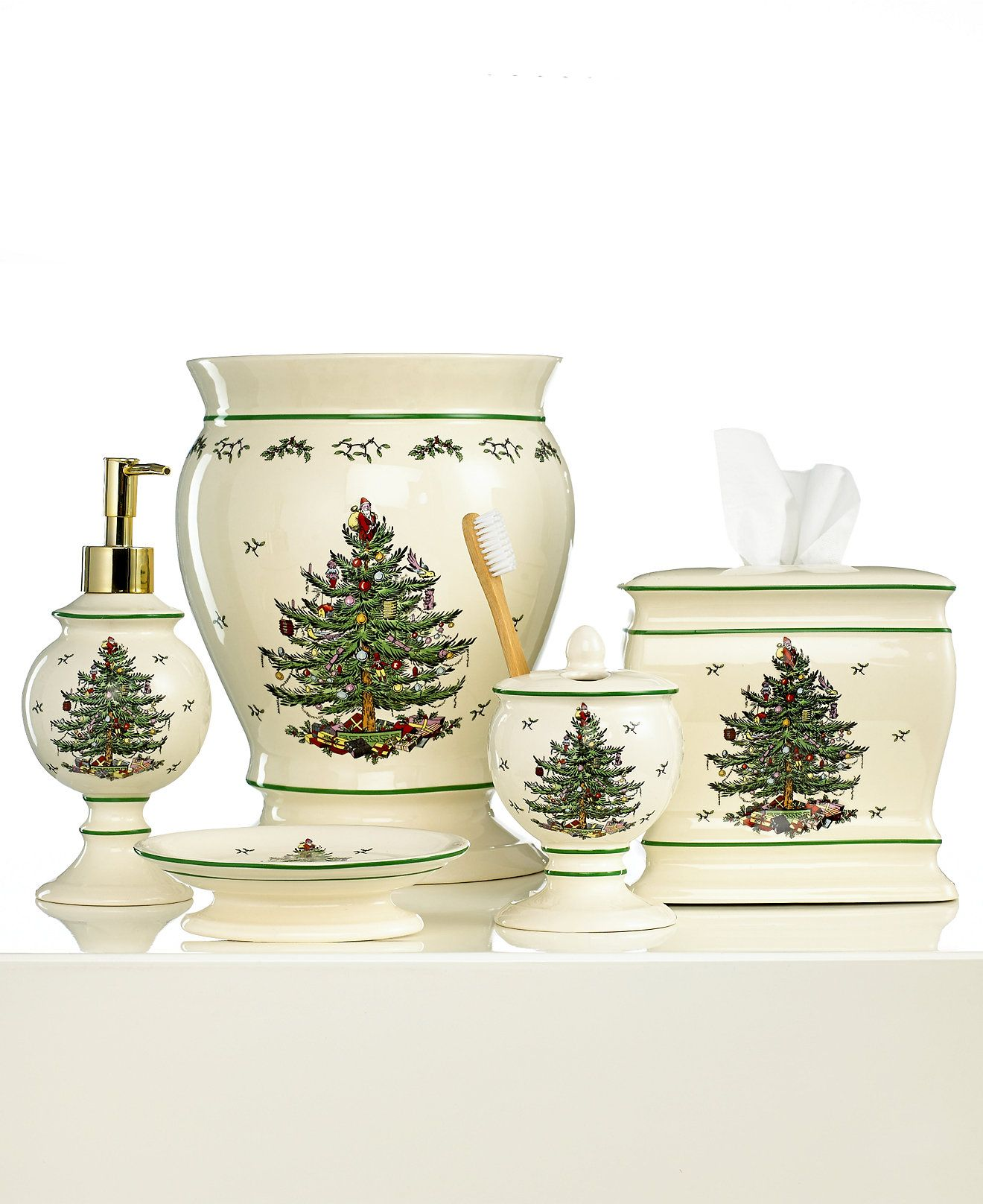 Spode Bath Accessories Christmas Tree Collection Bathroom Bed Macy S