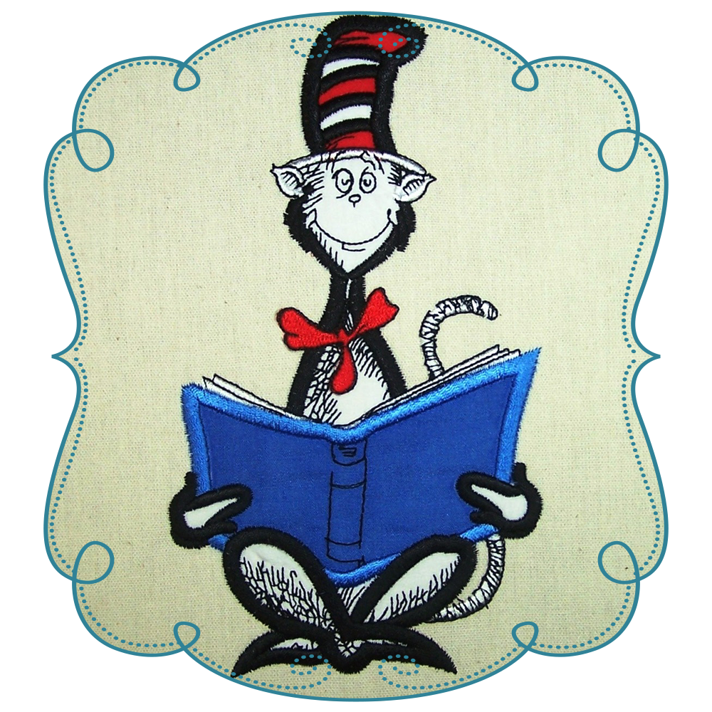 15+ Cat in the hat reading clipart info