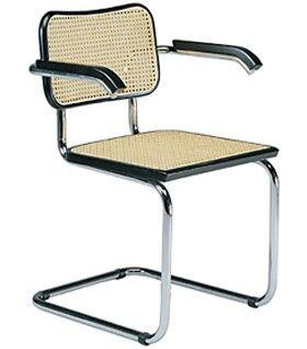 Bauhaus Furniture Marcel Breuer u0027Cessau0027 armchair The cantilevered chair replaced conventional legs. First mass-produced cantilever chair.  sc 1 st  Pinterest & Bauhaus | Upholstery/Wood chair | Pinterest | Bauhaus Bauhaus style ...