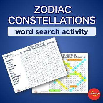 Warm up bell ringer constellations of zodiac word search warm up bell ringer constellations of zodiac word search activity urtaz Choice Image