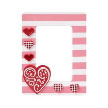 Valentine's Striped Frame