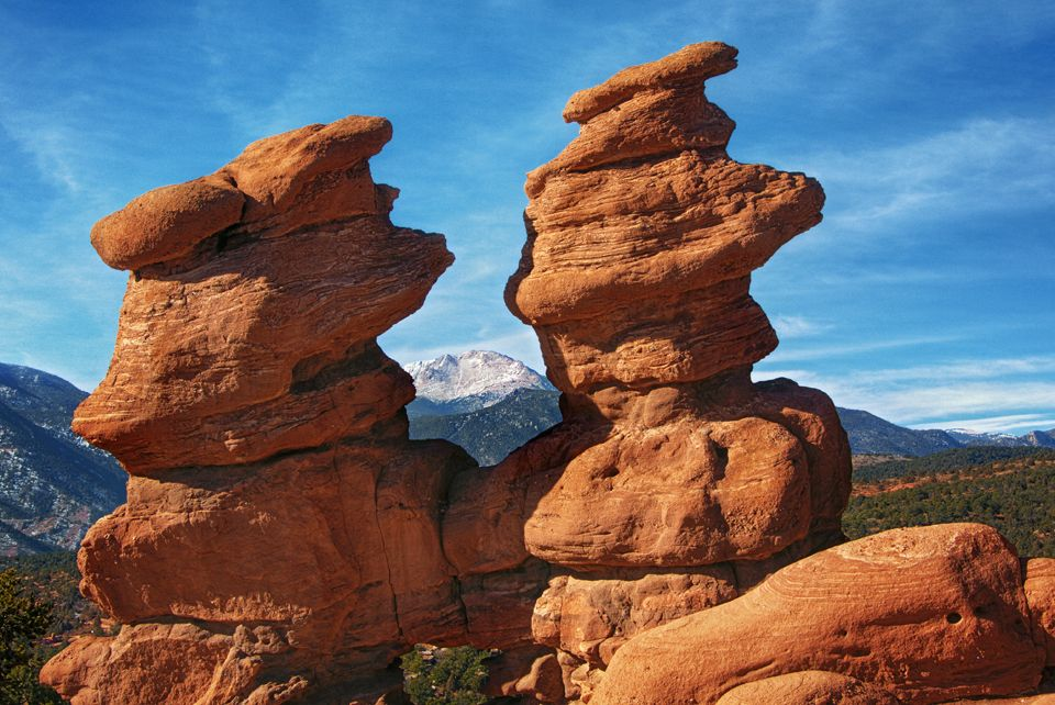 Siamese Twins in the Garden of the Gods, Colorado by