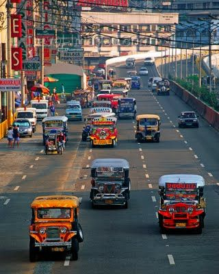 Jeepneys in the city