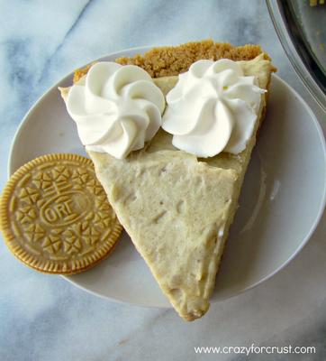 Crazy for Crust: Banana Cream Pie with Golden Oreo Crust