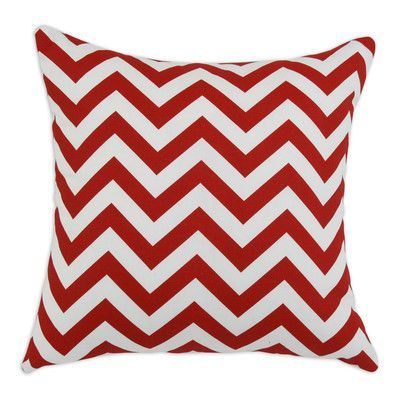 Brite Ideas Living Zig Zag Cotton Throw Pillow Color: Red / White