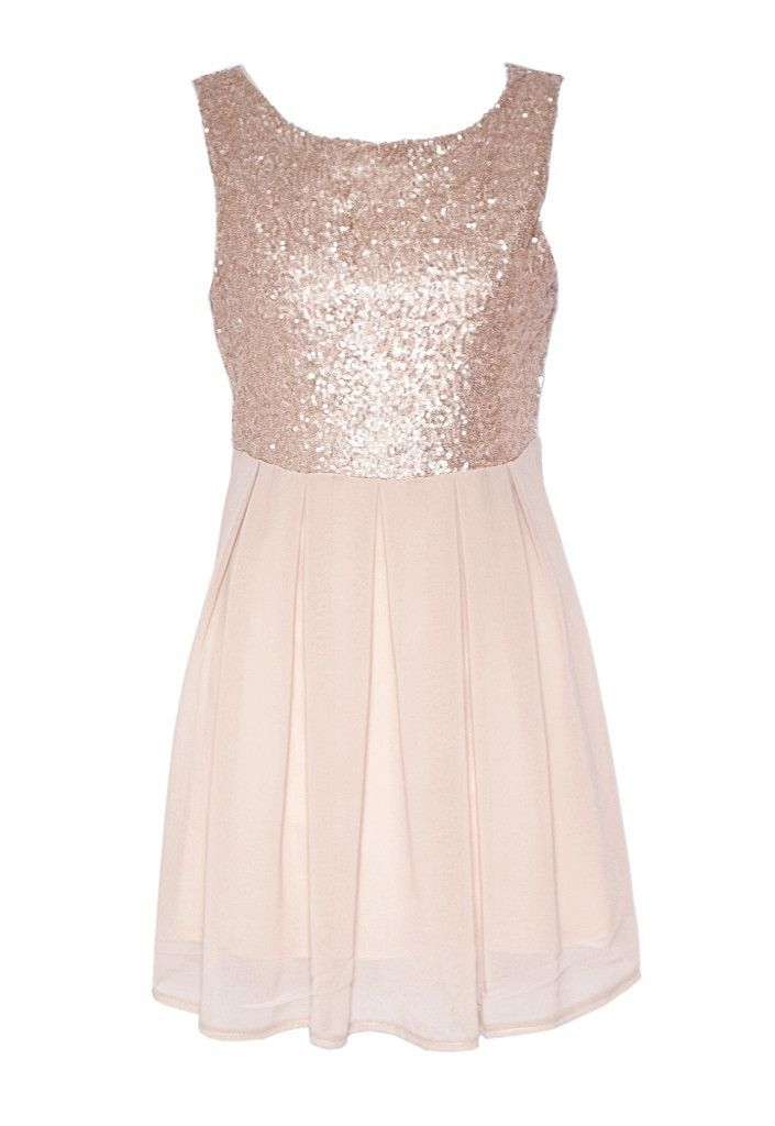 b3113b1bb2 Rose Gold Sequin Party Dress - Short Dresses For Going Out in 2019 ...