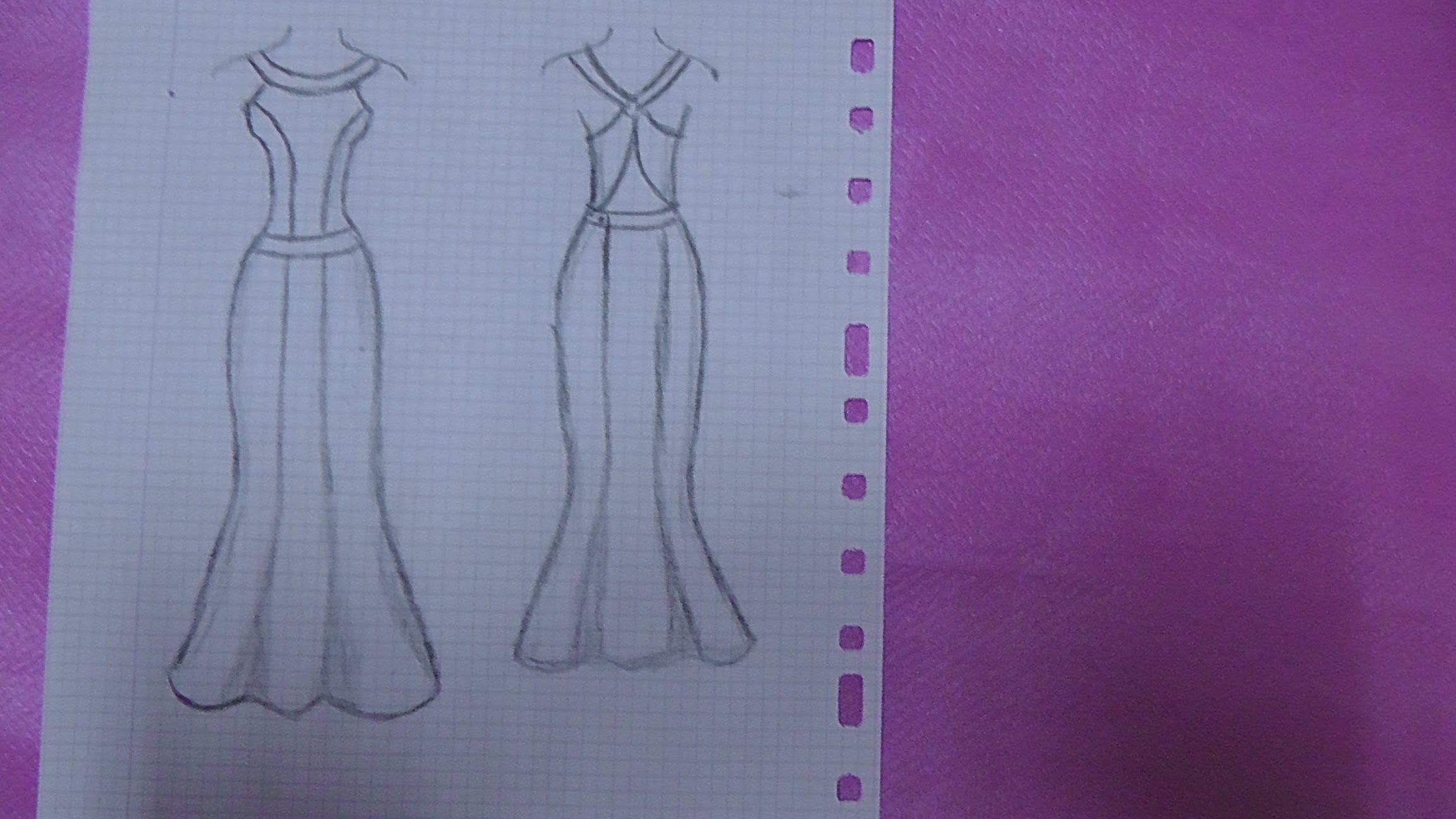 VESTIDO DE FIESTA CON NERGAS   corte y diseño   Pinterest   Vestidos ...