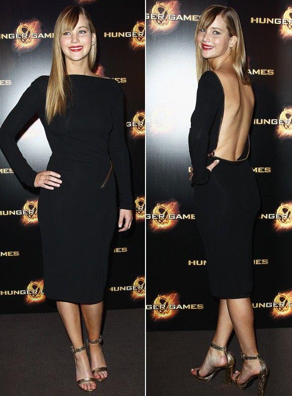 53c1c204ab9a7 Tom Ford Backless zipper dress - Jennifer Lawrence