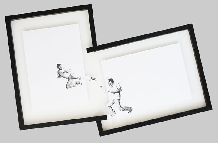 Photocopied Men Attempt to Break Out of Picture Frames
