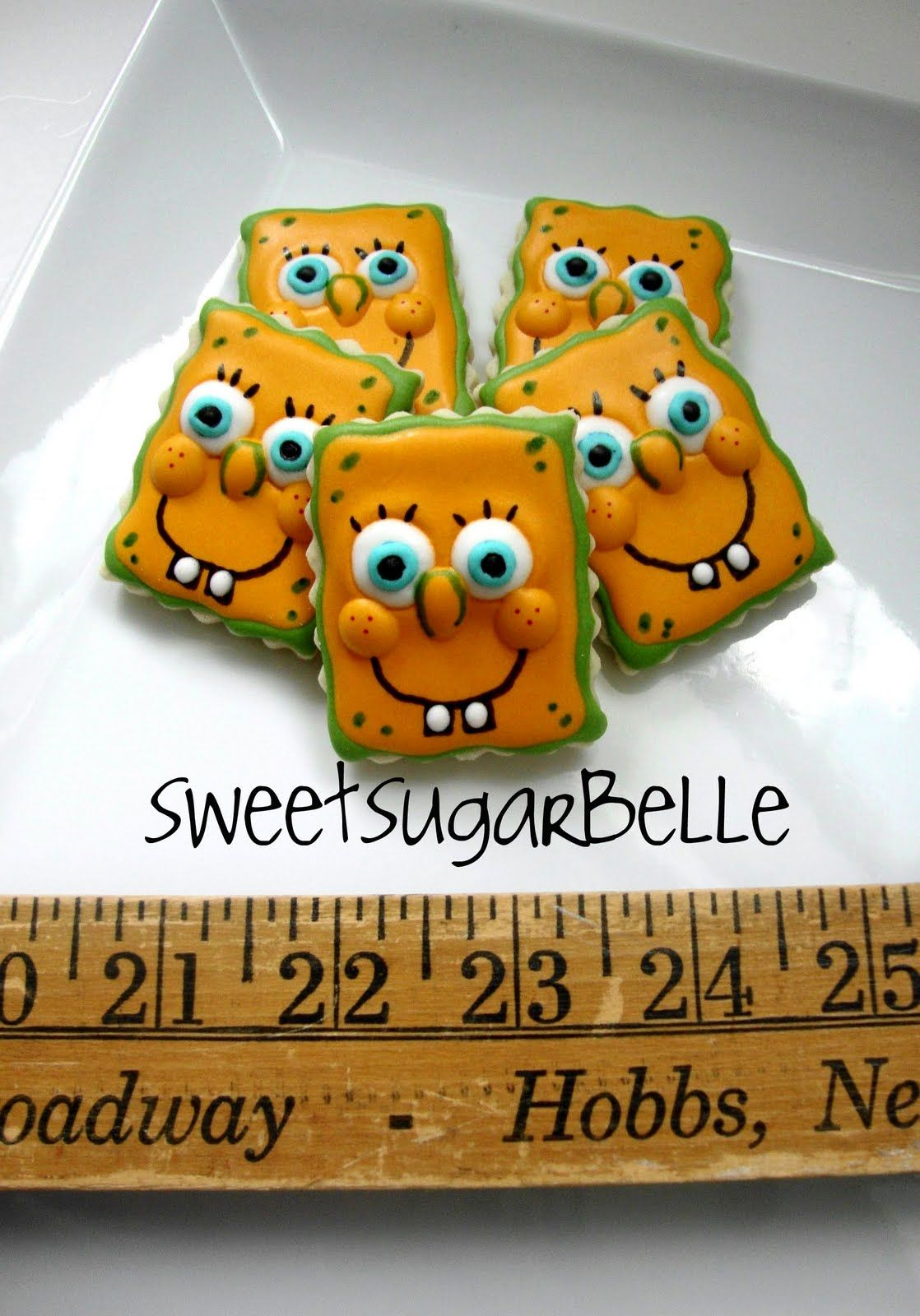 Sponge Bob Cookie Decorating Inspiration