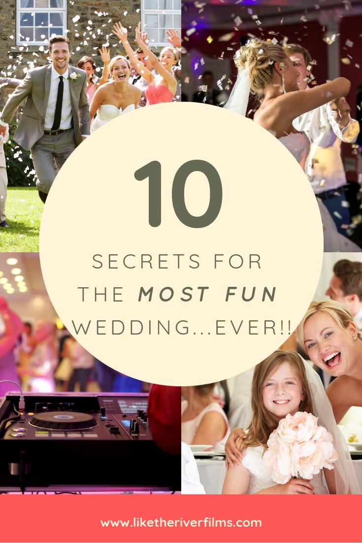 10 Secrets For Having The Most Fun Wedding Ever Fun Wedding Golf Club Wedding Reception Unique Wedding Receptions