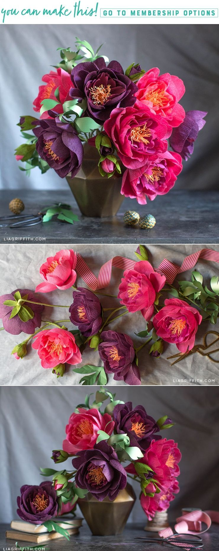 Video Tutorial How to Make Crepe Paper Peonies How to Make Crepe Paper Peonies  Lia Griffith Adult DIY crafts are so much fun Lia makes learning how to craft this peony f...