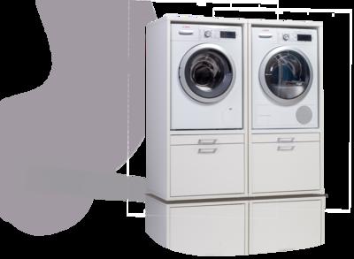 Waschturm Doppelschrank 145x134x65cm Mit Ausziehbrett
