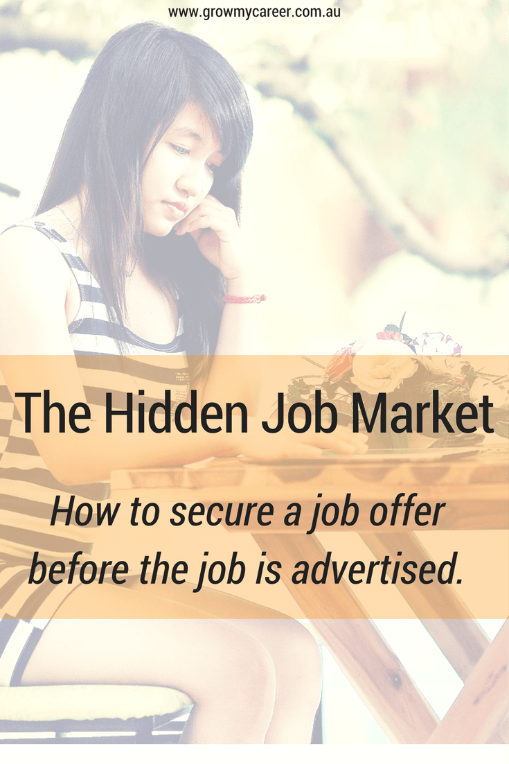 There Is A Hidden Job Market Where Many Dream Jobs Are Filled Before They  Are Advertised. Find Out How To Access The Hidden Job Market With These Tips .