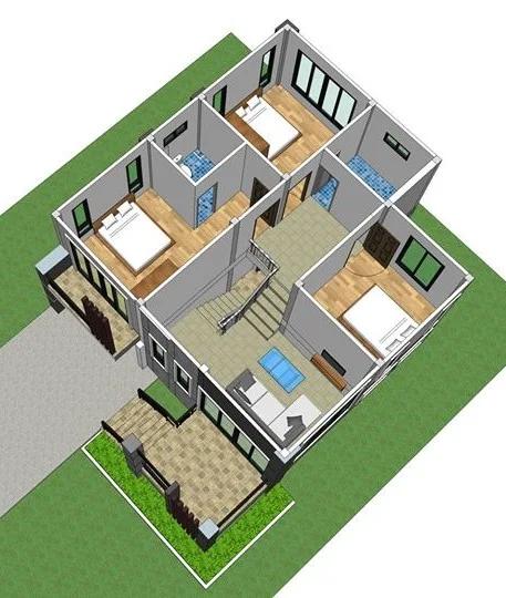 7 Inspirasi Desain Rumah Atap Miring 2 Lantai Gaya Rumah Rumah Home Fashion