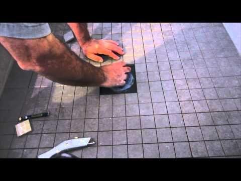 How to install ceramic tile on a shower floor. - YouTube   Bathroom ...