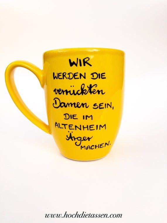 Geschenk beste Freundin, Freundin Tasse, Tassen im Set, Tassen Geschenk, beste Freundin, Wir werden die Damen sein, die im Altenheim... #geschenkbestefreundin