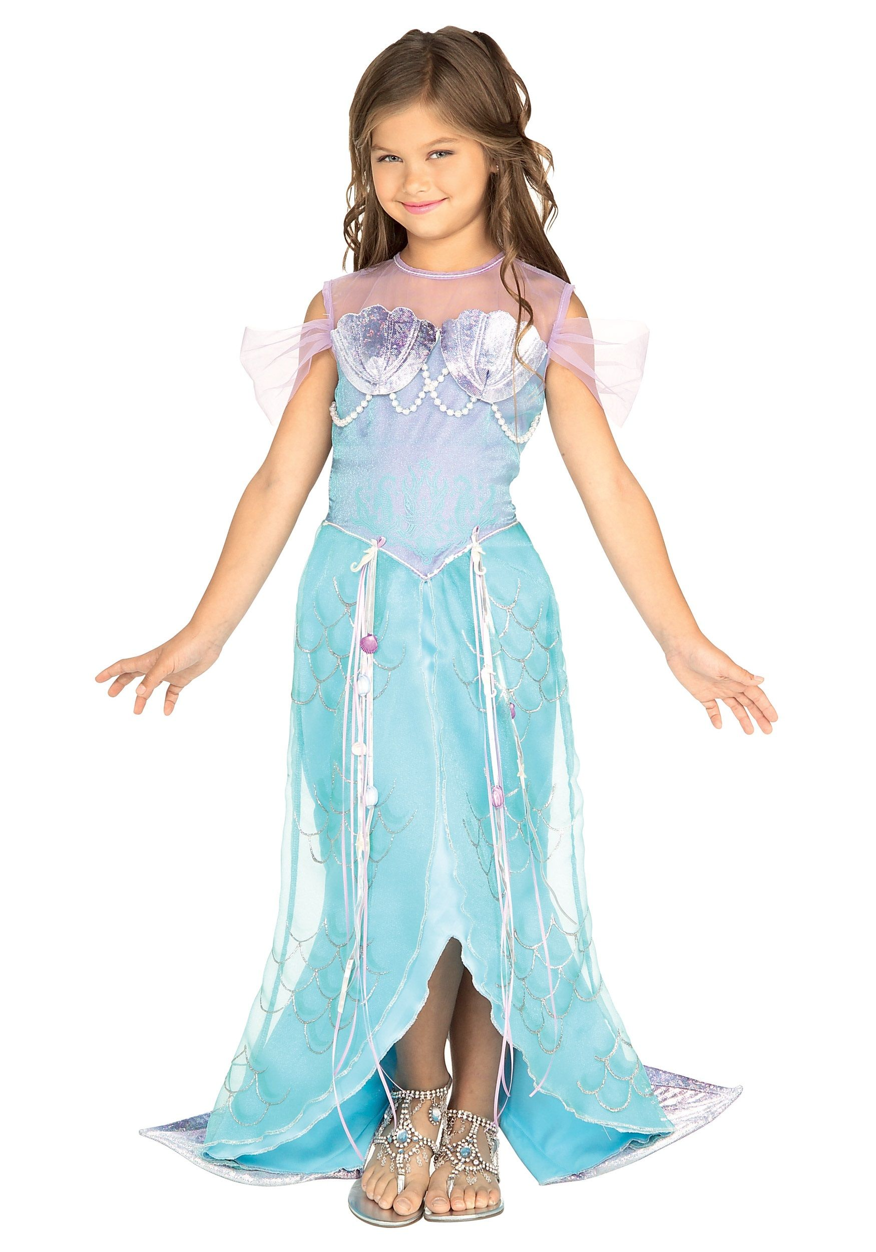 girls princess halloween costumes child mermaid princess costume has shimmer and sparkle that any girl